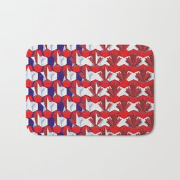 Awesome American to Canadian Flag Pattern! USA vs Canada. Bath Mat