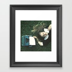 white blank page Framed Art Print