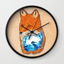 Untamed Winter Wall Clock