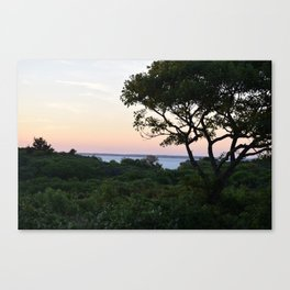 When the Night Sky Touches the Ocean Canvas Print