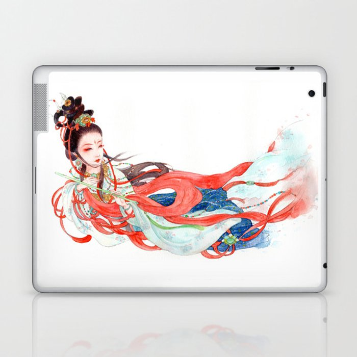 Watercolor Chinese Beauty -  Feitian Laptop & iPad Skin