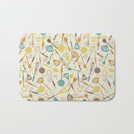 Kitchen Utensils Bath Mat