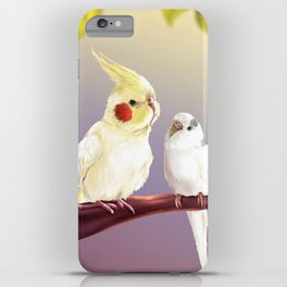 Budgie and Cockatiel iPhone Case