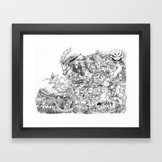 Naruto characters doodle Framed Art Print
