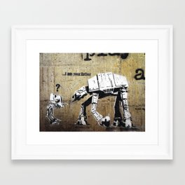 Banksy, I am your father Framed Art Print