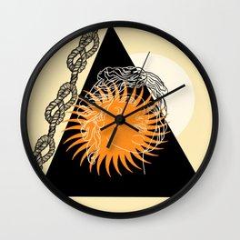 Roman Sun Wall Clock
