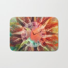Synchronicity 11:11 Clock Face Time Design Bath Mat
