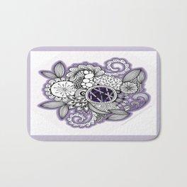 Pretty in Purple Zentangle Design Illustration Bath Mat