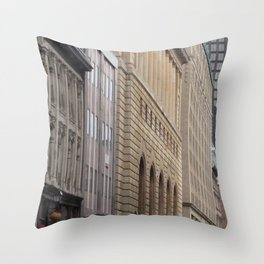 Old Montreal Architecture Mix Throw Pillow