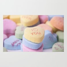I Love You - Candy Hearts Rug