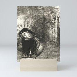 "Odilon Redon ""... une longue chrysalide couleur de sang"" Mini Art Print"