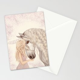 She was born to ride Unicorns Stationery Cards