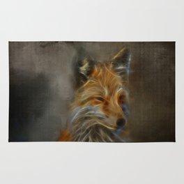 Abstract fox portrait Rug