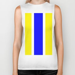 TEAM COLORS 10...BLUE,YELLOW Biker Tank