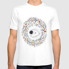 Womb MEDIUM White Mens Fitted Tee