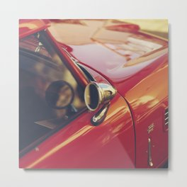 Red supercar photography, Triumph spitfire, original english car, classic sports auto Metal Print