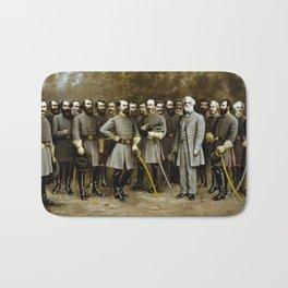 Robert E. Lee and His Generals Bath Mat