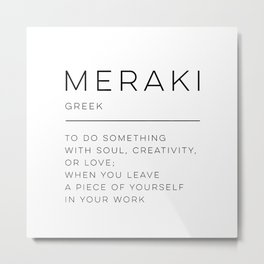 Meraki Definition Metal Print