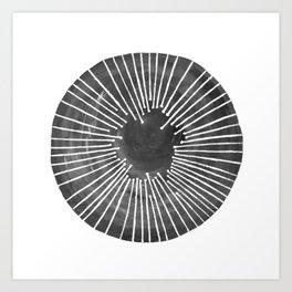 Black and White Circle Art Print