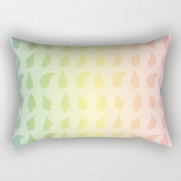 Feather pattern Multi color Rectangular Pillow