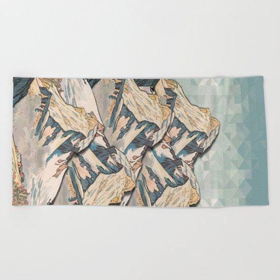 The Great, Great Night Mountain No. 8 Beach Towel