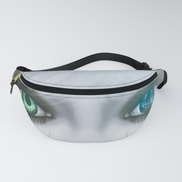 Harlequin Eyes Of A Different Color Fanny Pack