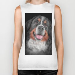 Drawing Bernese Mountain Dog 5 Biker Tank
