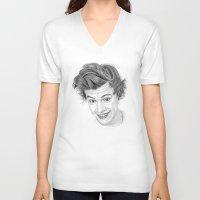harry V-neck T-shirts featuring Harry by Kerri Dixon Art