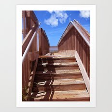 Seaside Steps Art Print