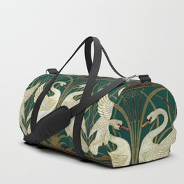 Walter Crane's Swan, Rush, Iris Duffle Bag