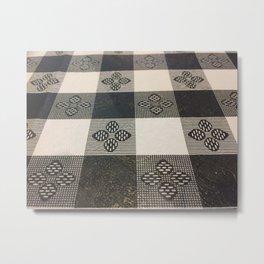Black and white picnic Metal Print