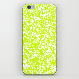 Small Spots - White and Fluorescent Yellow iPhone Skin