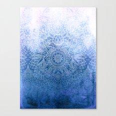 Enchanted Indigo - watercolor + doodle Canvas Print