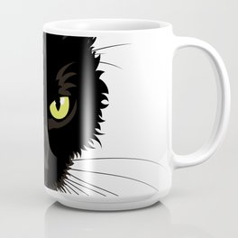 Black Cat Face Coffee Mug
