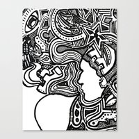 techno Canvas Prints featuring Techno by Madison R. Leavelle