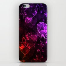 Love.  Abstract pattern with hearts. iPhone & iPod Skin