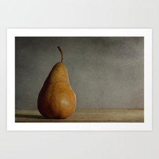 Brown Pear Art Print