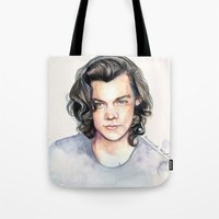 coconutwishes Tote Bags featuring Harry Watercolors II by Coconut Wishes