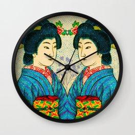 2 Geishas Wall Clock