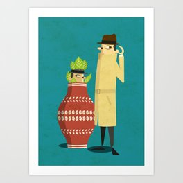 There's a spy near you Art Print