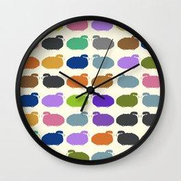 Colorful cartoon sheep pattern Wall Clock