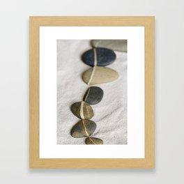 zen pebble line Framed Art Print