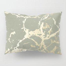 Kintsugi Ceramic Gold on Green Tea Pillow Sham