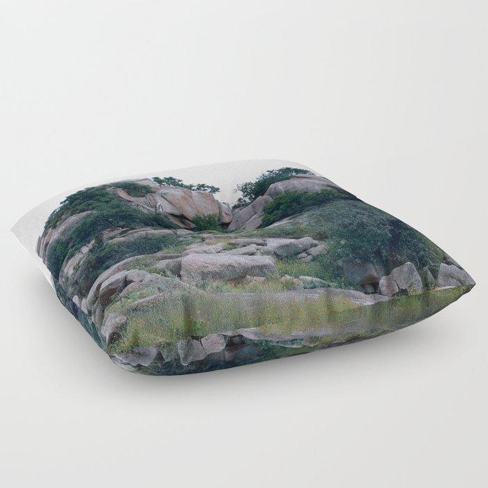 enchanted rock  Floor Pillow