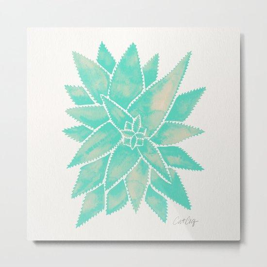 Aloe Vera – Mint Palette Metal Print