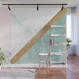 Marble luxe - jade teal Wall Mural