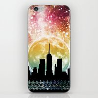 moonrise iPhone & iPod Skins featuring Moonrise by Jenndalyn