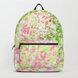 Pink and Lime Splatter Paint Design Backpack