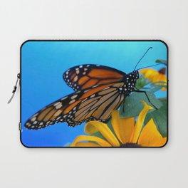 Monarch Butterfly on Black-Eyed Susan Laptop Sleeve