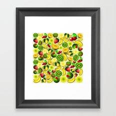 Summer Fruits Juicy Pattern  Framed Art Print